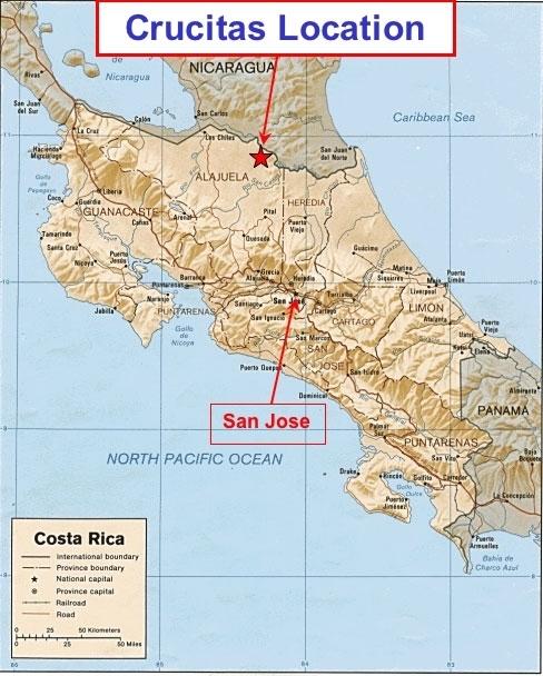 Crucitas-Location-map