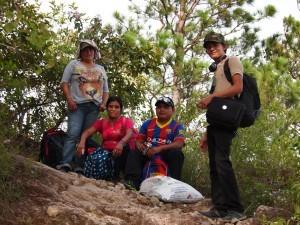The COPINH group – Maryeli, María, Agostín and Selvín.